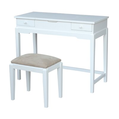 Andalusia Vanity Set with Mirror Finish: Snow White