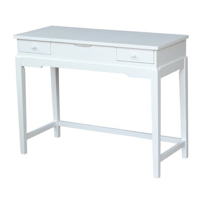 Andalusia Vanity with Mirror Finish: Snow White