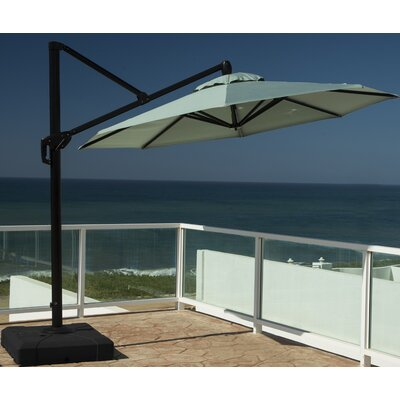 10 Cantilever Umbrella Fabric: Bliss Blue
