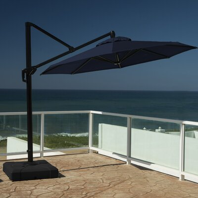 10 Cantilever Umbrella Fabric: Navy Blue
