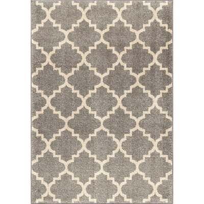 Decatur Gray/Ivory Area Rug Rug Size: 53 x 76