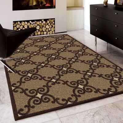 Plaines Brown Area Rug