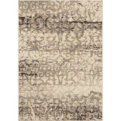 Du Bois Ivory Area Rug Rug Size: 5'3 x 7'6