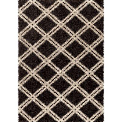 Menominee Shag Black/Ivory Area Rug Rug Size: 710 x 1010