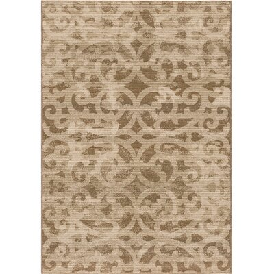 Mokena Ivory/Tan Area Rug Rug Size: 5'3 x 7'6