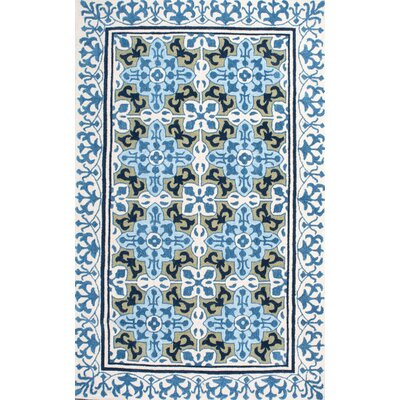Arcola Hand-Tufted Blue in Door Area Rug Rug Size: 5 x 8