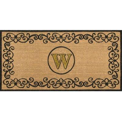 Cowden Monogrammed Outdoor Doormat Rug Size: 3 x 6, Letter: W