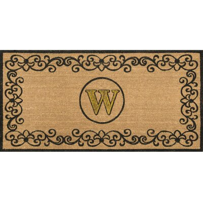 Cowden Monogrammed Outdoor Doormat Mat Size: 3' x 6', Letter: W