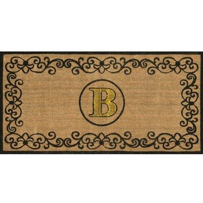 Cowden Monogrammed Outdoor Doormat Rug Size: 3 x 6, Letter: B