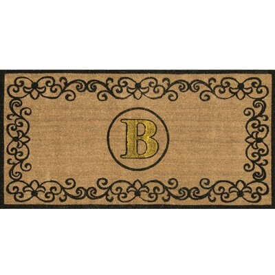 Cowden Monogrammed Outdoor Doormat Mat Size: 3 x 6, Letter: B