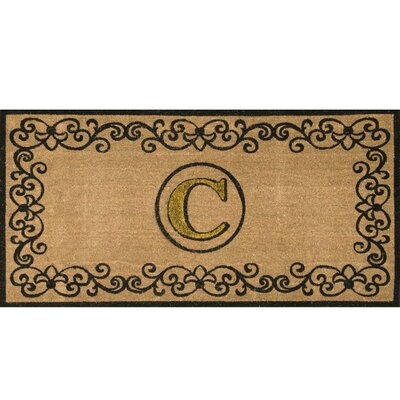 Cowden Monogrammed Outdoor Doormat Mat Size: 3 x 6, Letter: C