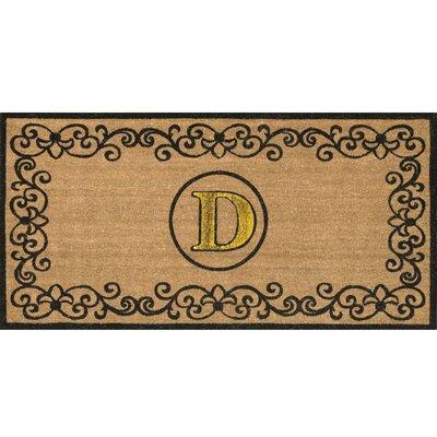 Cowden Monogrammed Outdoor Doormat Rug Size: 3 x 6, Letter: D