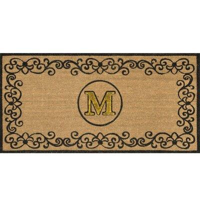 Cowden Monogrammed Outdoor Doormat Rug Size: 3 x 6, Letter: M