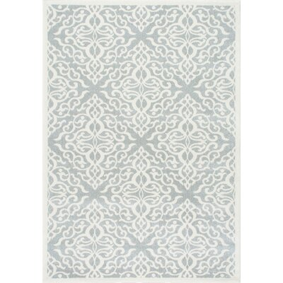 Shoals Silver Area Rug Rug Size: 4 x 6