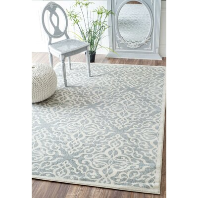 Shoals Silver Area Rug Rug Size: Rectangle 5 x 75