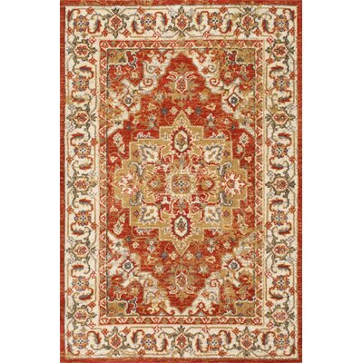 Antora Red Area Rug Rug Size: 5' x 8'