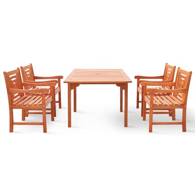 Moore 5 Piece Dining Set