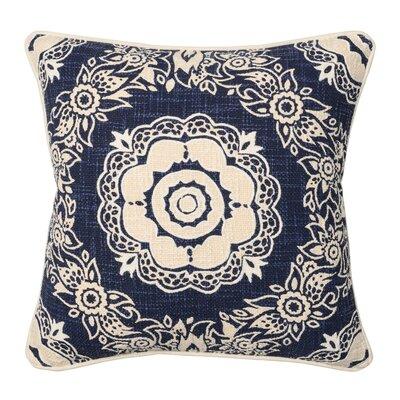 Abita 100% Cotton Throw Pillow Color: Navy