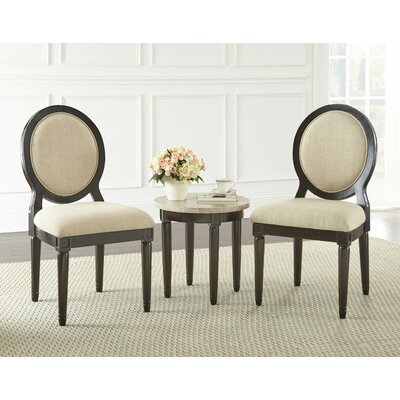 Aberdeenshire 3 Piece Side Chair and Table Set