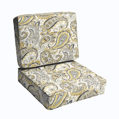 2 Piece Outdoor Chair Cushion Set