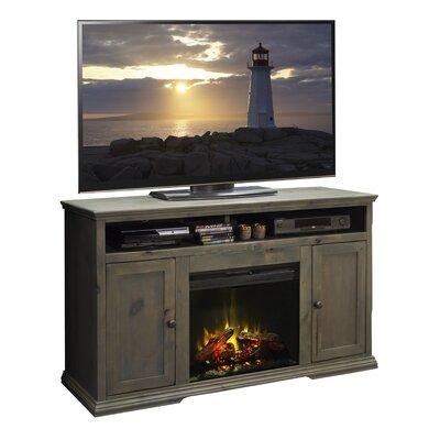 Leverette 59 TV Stand with Fireplace