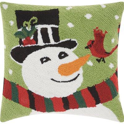 Riverwoods Snowman And Cardinal Throw Pillow