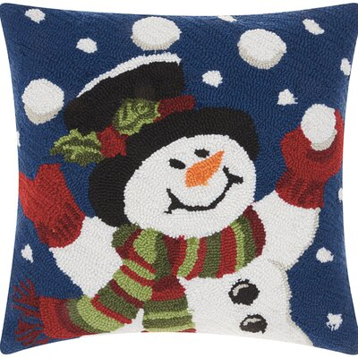 Haggerty Juggling Snowman Throw Pillow
