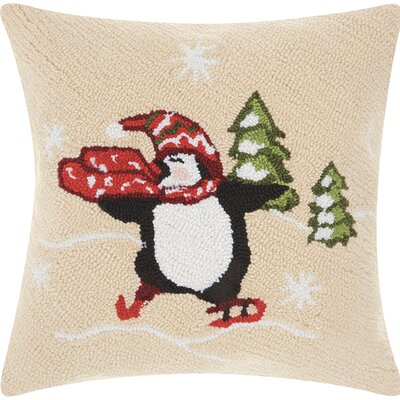 Haggerty Skating Penguin Throw Pillow