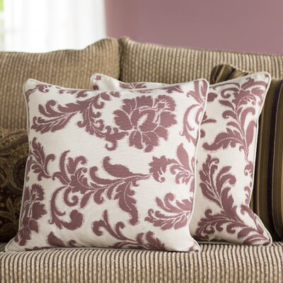 Easterwood 100% Cotton Throw Pillow Size: 18 H x 18 W, Color: Bordeaux