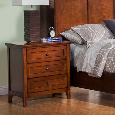 Seger 3 Drawer Nightstand