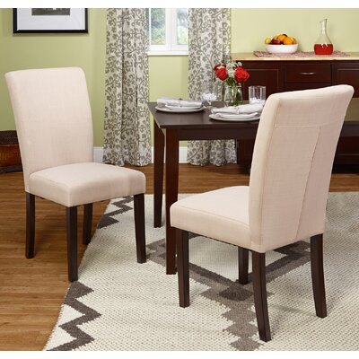 Channahon Parson Chair Upholstery: Beige