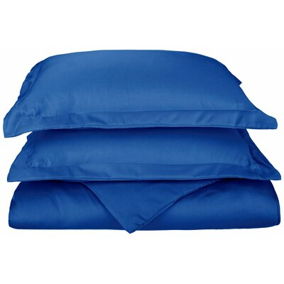 Freeburg Reversible Duvet Cover Set Color: Blue, Size: Twin
