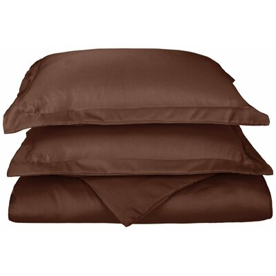 Freeburg Reversible Duvet Cover Set Size: Full / Queen, Color: Chocolate