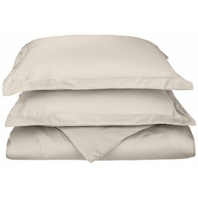 Freeburg Reversible Duvet Cover Set Color: Ivory, Size: Twin
