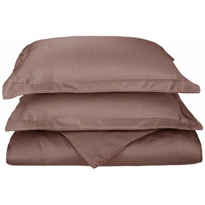 Freeburg Reversible Duvet Cover Set Color: Grey, Size: Twin