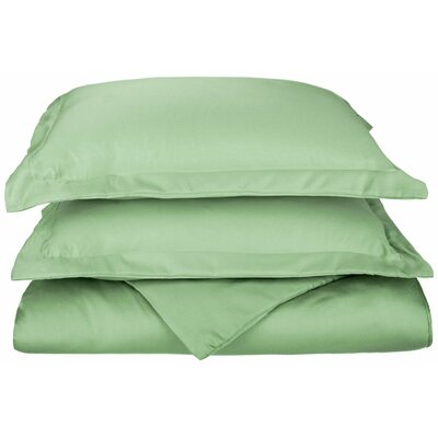 Freeburg Reversible Duvet Cover Set Color: Sage, Size: Twin