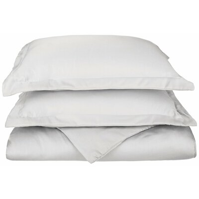 Freeburg Reversible Duvet Cover Set Color: White, Size: King / California King