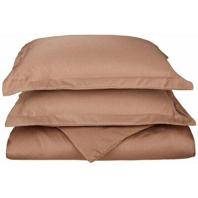 Freeburg Reversible Duvet Cover Set Color: Taupe, Size: Twin