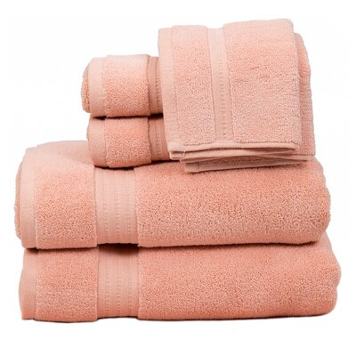 Morton Cotton 6 Piece Towel Set Color: Rose