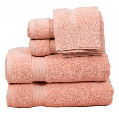 Morton Cotton 6 Piece Towel Set Color: Rose