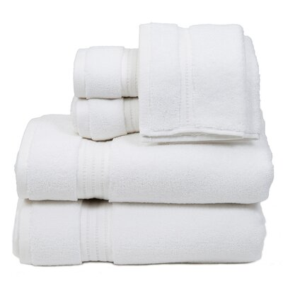 Morton Cotton 6 Piece Towel Set Color: White