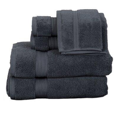 Morton Cotton 6 Piece Towel Set Color: Grey