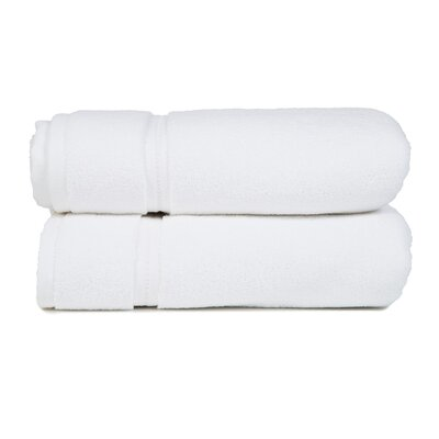 Morton Modern Living Fine Cotton Washcloth (Set of 2) Color: White