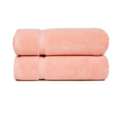 Morton Modern Living Fine Cotton Washcloth (Set of 2) Color: Rose