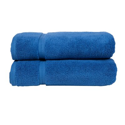 Morton Modern Living Fine Cotton Washcloth (Set of 2) Color: Blue