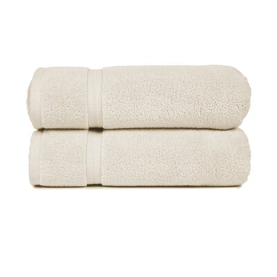 Morton Modern Living Fine Cotton Washcloth (Set of 2) Color: Ivory