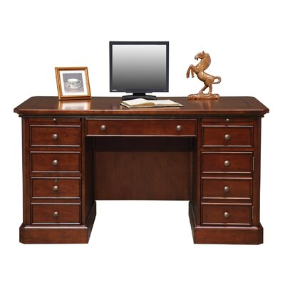 Spielman Executive Desk Size: 30.5 H x 57 W x 27 D