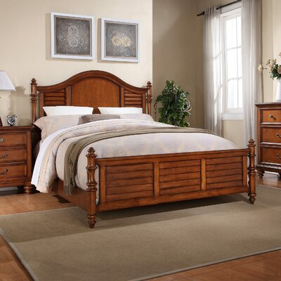 Stroupe Panel Bed Size: Cal King, Finish: Cherry