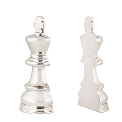 Chess 2 Piece Book Ends