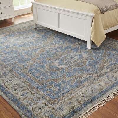 Cambridge Hand-Knotted Blue Area Rug